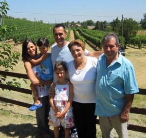 Mauro Altini con la famiglia